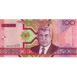 Billete De Turkmenistan 100 Manat Unc Apo