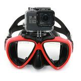 Máscara De Buceo Snorkel Para Go Pro