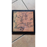 Rotulo Mapa Lord Of The Rings Middle Earth 25cm X 25 Cm