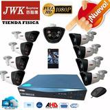 Kit Camaras Seguridad 8 Camara Ahd Bullet 1080p Jwk Vision