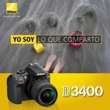 Nikon Dslr D3400 + Lente 18-55mm Financiamiento - Inteldeals
