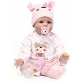 Npk Doll 55cm Muñeca De Silicona Suave Reborn Baby 22  Jugue