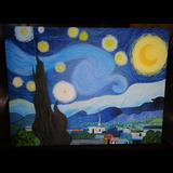 La Noche Estrellada De Van Gogh Imitación