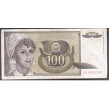 Yogoslavia Billete 100 Dinara 1991 Circulado Buenas Con