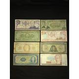 Pequeña Colección De Billetes Antiguos De Costa Rica