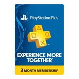 Psn Playstation Plus 3 Meses - Ps4 - Usa