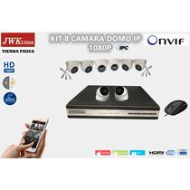 Kit 8 Camaras Ip 1080p Seguridad Domo  Hd Cctv Jwk Vision