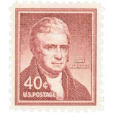 Us Sc #1050 - 1955 40c John Marshall Con Matasello.