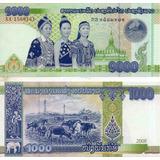 Billete De Laos 1000 Kip Unc Apo