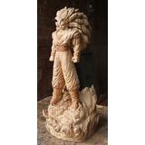 Goku Face 3 Esculpido En Madera