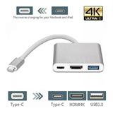 Adaptador Tipo C A Hdmi 4k,hub 3.1,usb C Para Macbook
