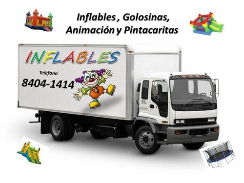Alquiler Inflables , Animación, Golosinas, Pintacaritas
