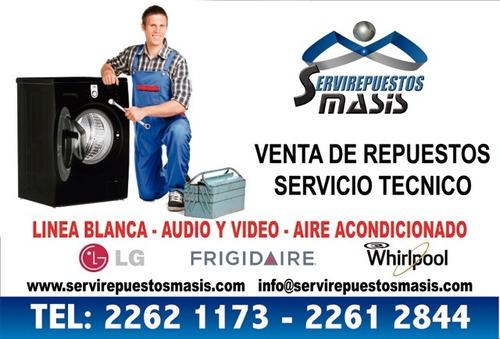 Reparacion De Lavadoras Y Refrigeradoras,lg,frigidaire,atlas