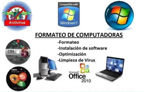 Soporte Técnico En Computación A Domicilio Laptop Pc Windows